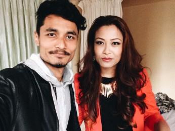 Manish Suwal and Swastika Rajbhandari Selfie