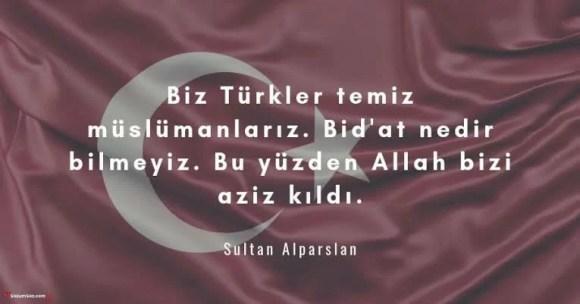 Biz Türkler temiz müslümanlarız. Bidat nedir bilmeyiz. Bu yüzden Allah bizi aziz kıldı - Ülkücü İle İlgili Resimli Sözler - Ülkücü Sözleri, Milliyetçilik, Türk Sözleri, resimli-sozler, populer-sozler, guzel-mesajlar, anlamli-sozler