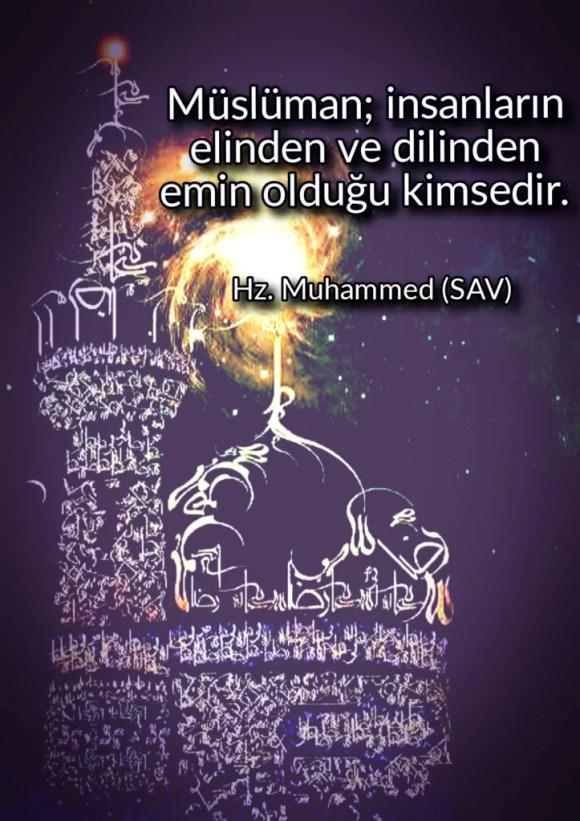 Müslüman insanların elinden ve dilinden emin olduğu kimsedir 723x1024 - Resimli Hz Muhammed (SAV) Sözleri - İslam Peygamberi Hz Muhammed Sözleri,Hz Muhammed Hadisleri, guzel-mesajlar, dini-sozler