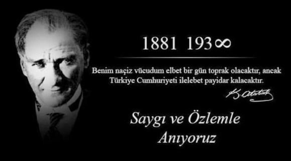 Benim naçiz vücudum elbet birgün toprak olacaktır ancak Türkiye Cumhuriyeti ilelebet payidar kalacaktır. Mustafa Kemal Atatürk - Mustafa Kemal Atatürk Resimli Sözler - Atatürk Sözleri Ve Fotoğraf Arşivi, unlu-sozleri, guzel-sozler