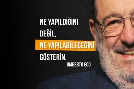Ne yapıldığını değil ne yapılabileceğini gösterin. Özlü Sözler Umberto Eco - En Yeni Özlü Sözler 2020 - Anlamlı, Etkileyici, Özlü Sözler, resimli-sozler, guzel-sozler, anlamli-sozler