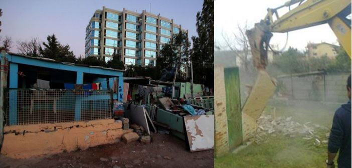Άρχισε η κατεδάφιση των 12 κτισμάτων του καταυλισμού Ρομά