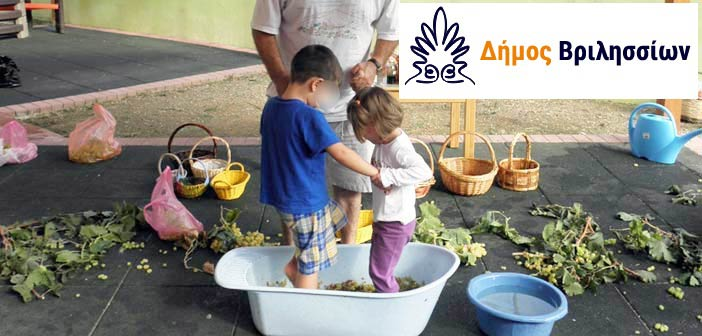 Οι «Μικροί Γεωργοί» τρυγούν στους παιδικούς σταθμούς Βριλησσίων