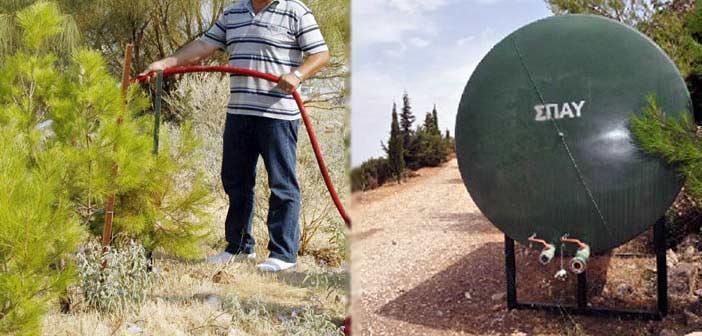 Εργασίες πυροπροστασίας και συντήρησης στον Λόφο Τσακού