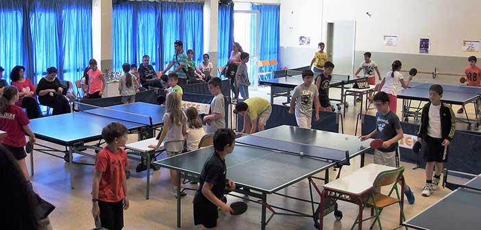 Αγώνες πινγκ πονγκ αθλητών των τμημάτων Αθλητικής Ανάπτυξης Αμαρουσίου