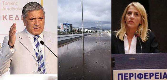 Γ. Πατούλης: Η Ρ. Δούρου παραδέχεται ότι έλεγε ψέμματα για τα αντιπλημμυρικά