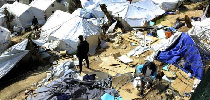 Λέσβος: Σοβαρά επεισόδια στο Κέντρο Κράτησης Μεταναστών Μόριας