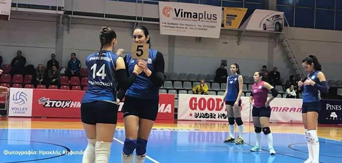Ήττα από το Μαρκόπουλο για τον Ηρακλή Κηφισιάς στη Volley League Γυναικών