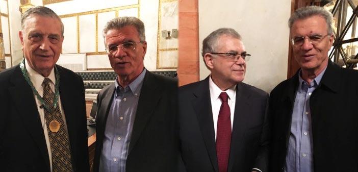 Ο Γ. Θεοδωρακόπουλος στην εγκατάσταση του νέου προέδρου της Ακαδημίας Αθηνών