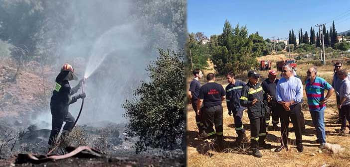 Η πρώτη φετινή πυρκαγιά στο Μαρούσι εκδηλώθηκε στο Κτήμα Καρέλλα