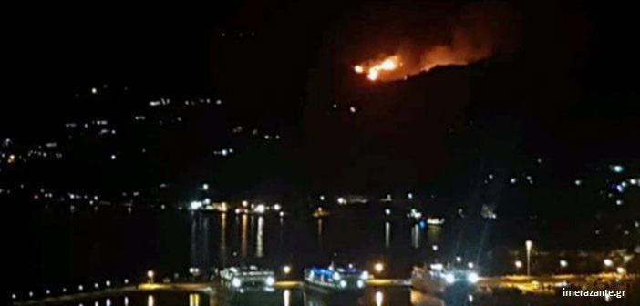 Ζάκυνθος: Υπό μερικό έλεγχο η πυρκαγιά στο Αργάσι