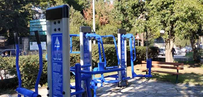 Υπαίθρια όργανα γυμναστικής τοποθετήθηκαν στη Δωδώνη Αμαρουσίου