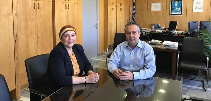 Συνάντηση της αντιπεριφερειάρχη Β.Τ. Αθηνών με τον δήμαρχο Παπάγου-Χολαργού