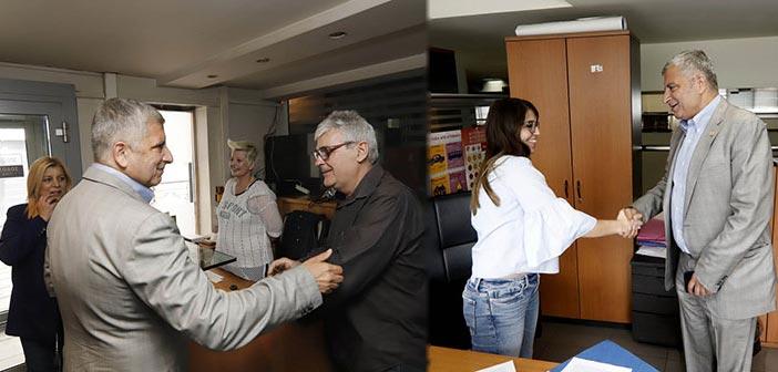 Τις υπηρεσίες της Περιφέρειας Αττικής επισκέφθηκε ο υποψήφιος περιφερειάρχης Γιώργος Πατούλης
