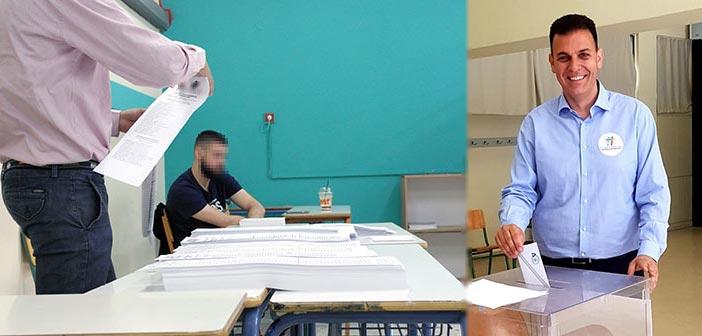 Στο εκλογικό κέντρο Αγίου Θωμά Πολυδρόσου ψήφισε ο Γ. Καραμέρος