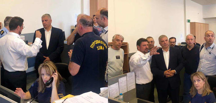 Στο Συντονιστικό Επιχειρησιακό Κέντρο στο Χαλάνδρι ο Γ. Πατούλης