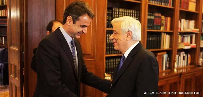 Συγχαρητήρια του Προέδρου της Δημοκρατίας στον Κυρ. Μητσοτάκη
