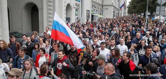 Ρωσία: Συλλήψεις αντιπολιτευόμενων σε διαδήλωση για «δίκαιες εκλογές» στη Μόσχα