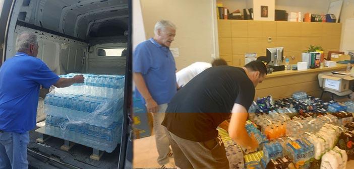 Συγκινητική η προσφορά των Βριλησσιωτών για τους πυροσβέστες και εθελοντές που επιχειρούν στην Εύβοια