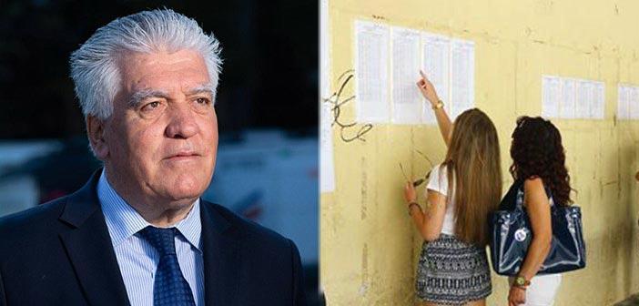 Το μήνυμα του Β. Ζορμπά για τους υποψηφίους των πανελλαδικών εξετάσεων