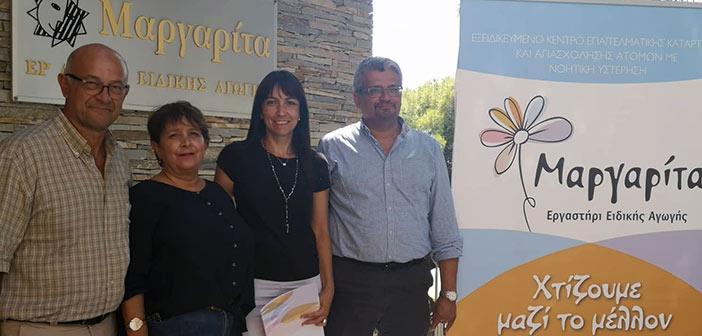 Το εργαστήρι ειδικής αγωγής «Μαργαρίτα» επισκέφθηκε η δήμαρχος Δ. Κεχαγιά