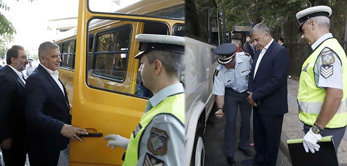Παρουσία Γ. Πατούλη έλεγχοι μικτών κλιμακίων Τροχαίας και Περιφέρειας σε σχολικά λεωφορεία