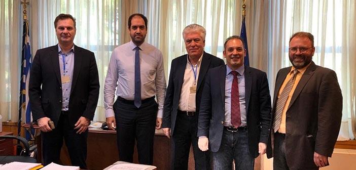 Συνάντηση δημάρχου Αγ. Παρασκευής με τον υφυπουργό Μεταφορών & Υποδομών για νέα έργα στην πόλη