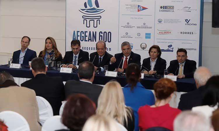 Σε συνέντευξη Τύπου για τη διοργάνωση του ιστιοπλοϊκού αγώνα «Aegean 600» ο Γ. Πατούλης