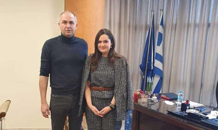 Με την αντιπεριφερειάρχη Πολιτισμού συναντήθηκε ο δήμαρχος Μεταμόρφωσης