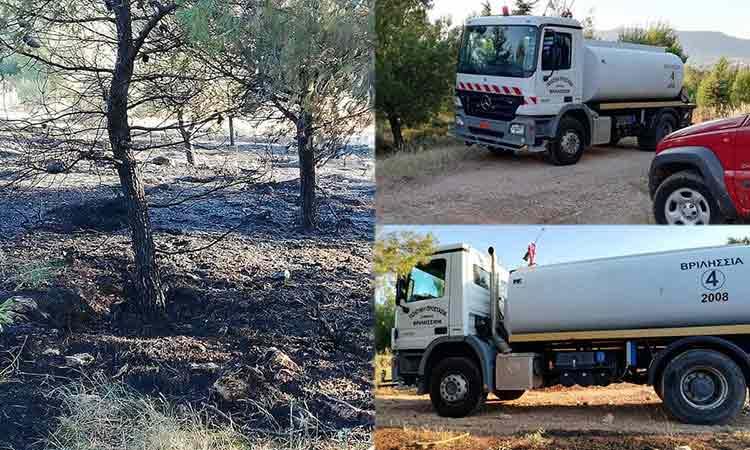 Φωτιά στο Γαλάτσι – Άμεση επέμβαση από την Πυροσβεστική και την Πολιτική Προστασία Δήμου Βριλησσίων