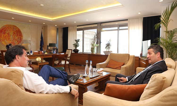 Συνάντηση Αδ. Γεωργιάδη με τον τομεάρχη Ενέργειας της Ν.Δ. Σωτ. Ησαΐα