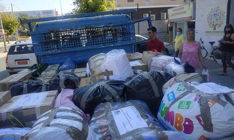Απεστάλη η ανθρωπιστική βοήθεια που συγκέντρωσε ο ΟΚΠΑΔΒ στον Δήμο Χαλκιδέων