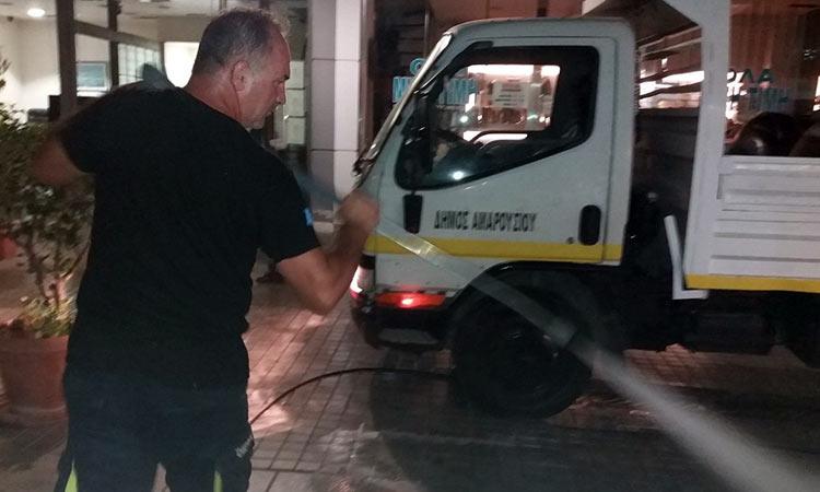 Εκτεταμένοι καθαρισμοί και απολυμάνσεις στον Δήμο Αμαρουσίου
