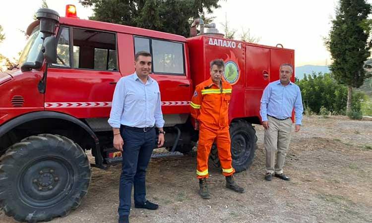 Πυροσβεστικό όχημα παραχώρησε στη ΔΑΠΑΧΟ ο ΣΠΑΥ