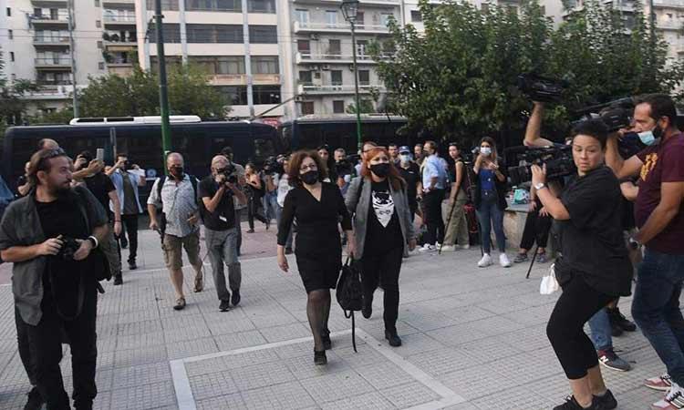 Δίκη Χρυσής Αυγής: Στο δικαστήριο η Μάγδα Φύσσα