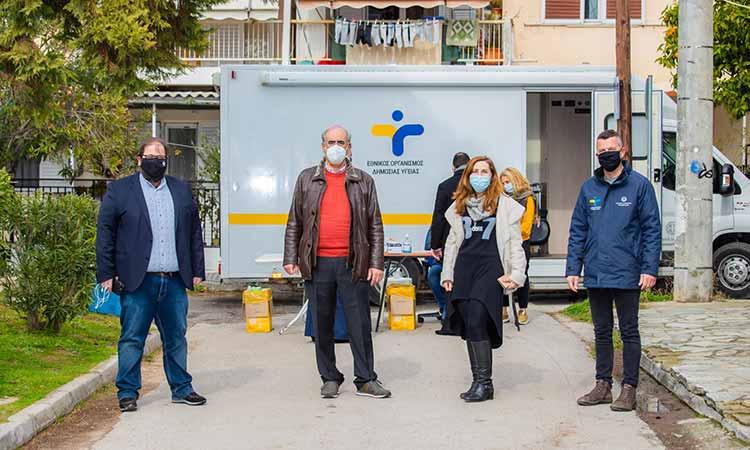 3 κρούσματα Covid-19 εντοπίστηκαν κατόπιν 222 rapid tests στον Δήμο Κηφισιάς
