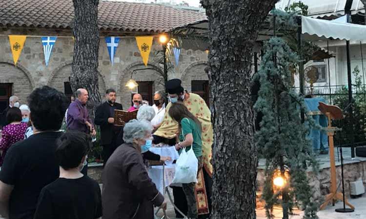 Εορτασμός Αγίου Γεωργίου στο ομώνυμο εκκλησάκι της Κάτω Πεύκης