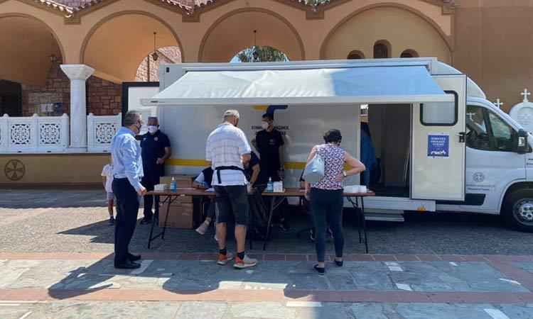 3 θετικοί στην Covid-19 σε 417 rapid tests στην πλατεία Φανερωμένης Χολαργού