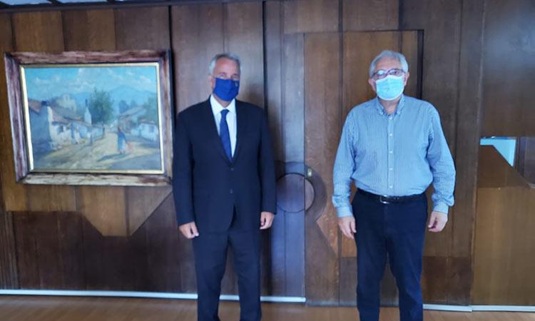 Συνάντηση εργασίας με τον Μ. Βορίδη είχε ο Θ. Αμπατζόγλου