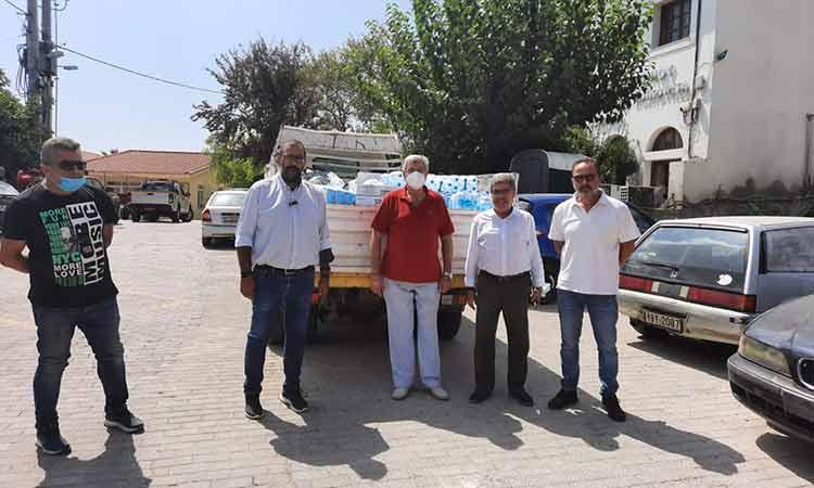 Απεστάλη στον Δήμο Ωρωπού η ποσότητα αγαθών που συγκεντρώθηκε με πρωτοβουλία του Δήμου Αμαρουσίου και της ΕΔΑ Αττικής