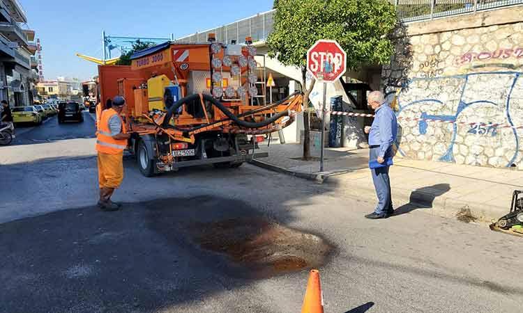 Εργασίες επισκευής οδοστρώματος σε γειτονιές του Αμαρουσίου
