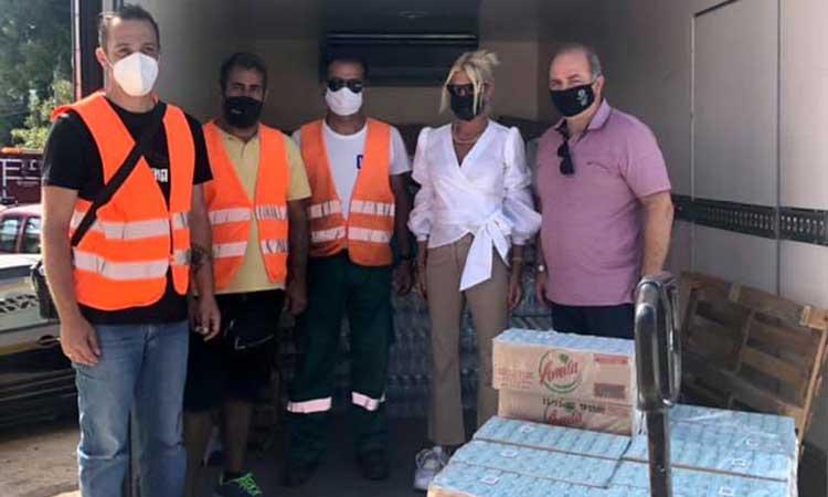Tο Δίκτυο SDG 17 Greece παρέδωσε είδη πρώτης ανάγκης στους πυρόπληκτους του Δήμου Διονύσου