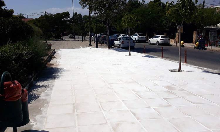 Σε πλήρη εξέλιξη το πρόγραμμα επισκευής – ανακατασκευής πεζοδρομίων στον Δήμο Πεντέλης