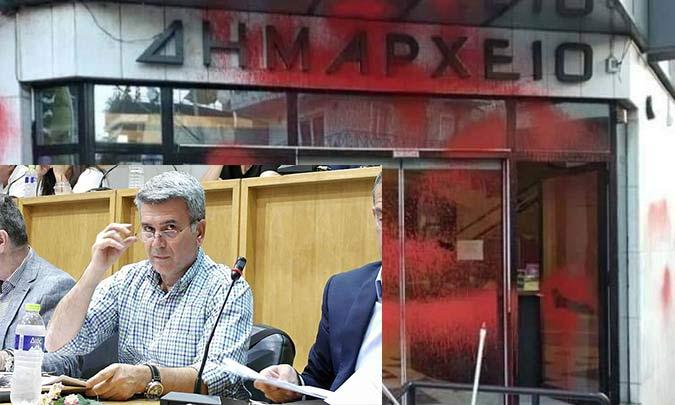 Η παράταξη του Π. Μανούρη καταδικάζει τον βανδαλισμό στο δημαρχείο της Ν. Ιωνίας