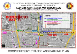 Traffic Advisory: 156th Birth Anniversary of Andres Bonifacio