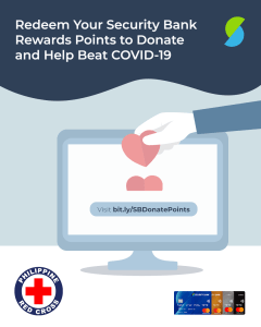 Security Bank joins Philippine Red Cross in the fight against COVID-19 pandemic