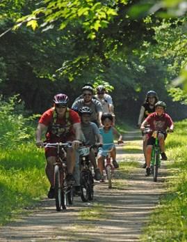 Kids on the bike trail