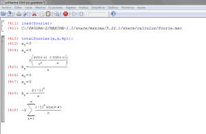 Serie de Fourier en wxMaxima