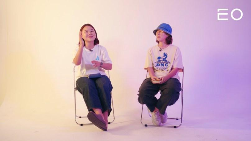 (왼쪽부터) 두낫띵클럽 멤버 이승희, 김규림