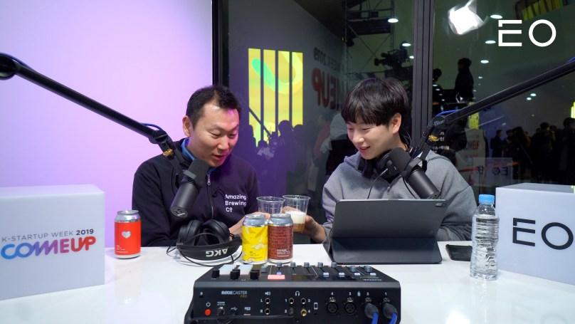 (왼쪽부터) 어메이징브루잉컴퍼니 김태경 대표와 EO 태용 대표